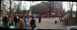 A panoramic view of the International Day Against Homophobia and Transphobia rally